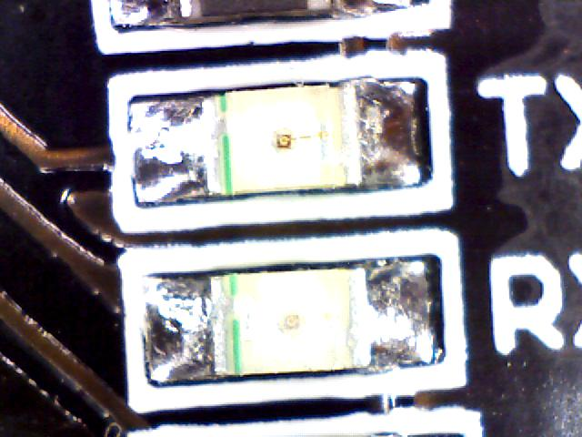Magnified image of an surface mount LED