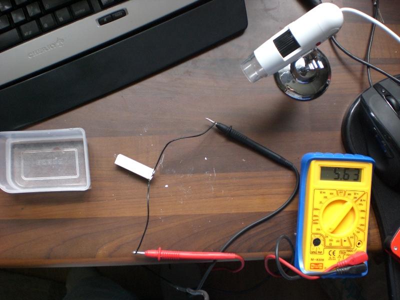 Resistance experiment on moisture sensor