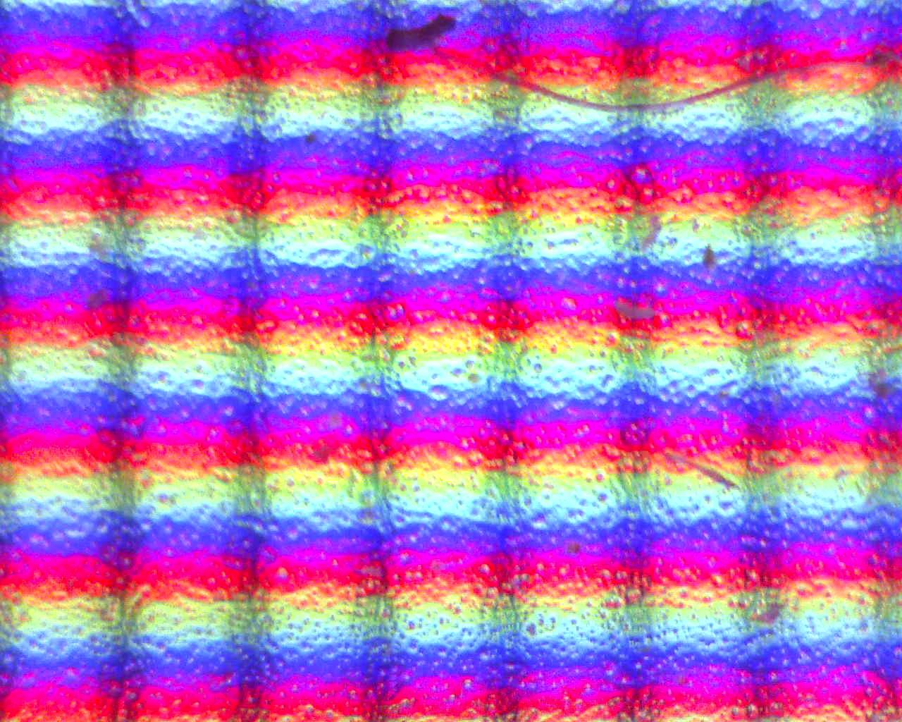 More interesting focusing on pixels from a TFT High magnification