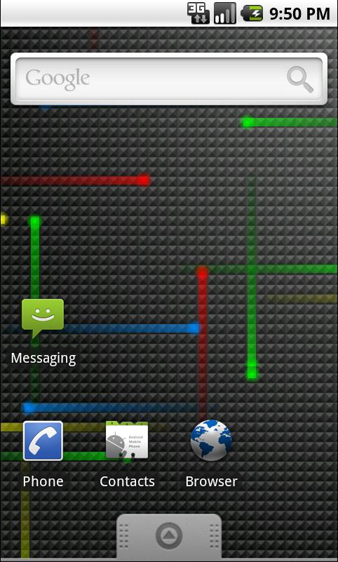 Nexus Revamped Live Wallpaper in action