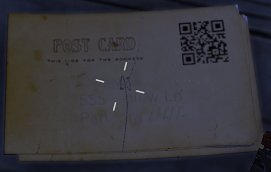 zoomed in on the qr code