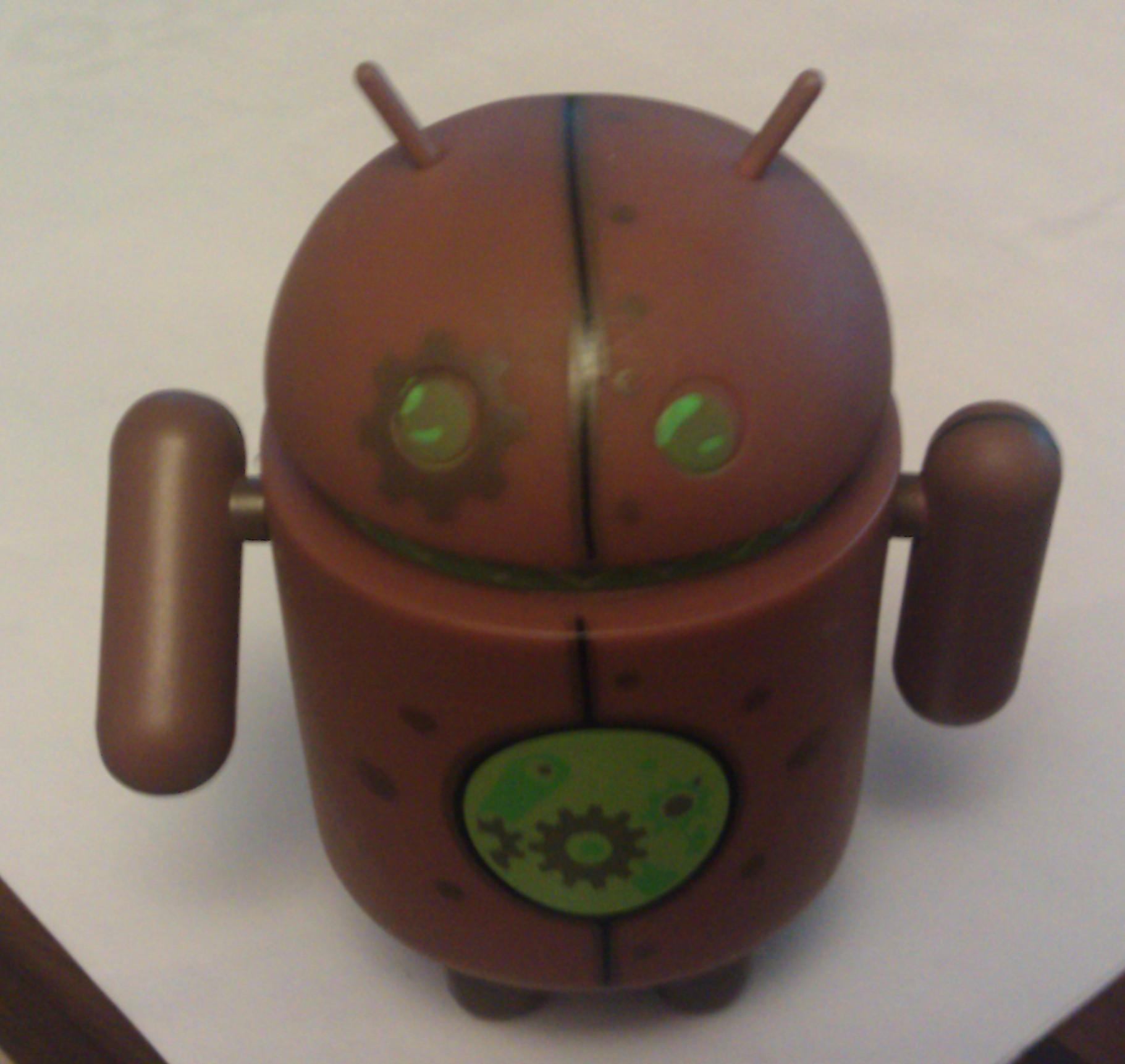 Copperbot dead zebra android figure